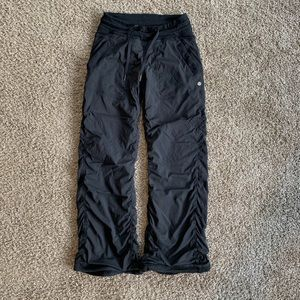 Black lululemon dance studio pants